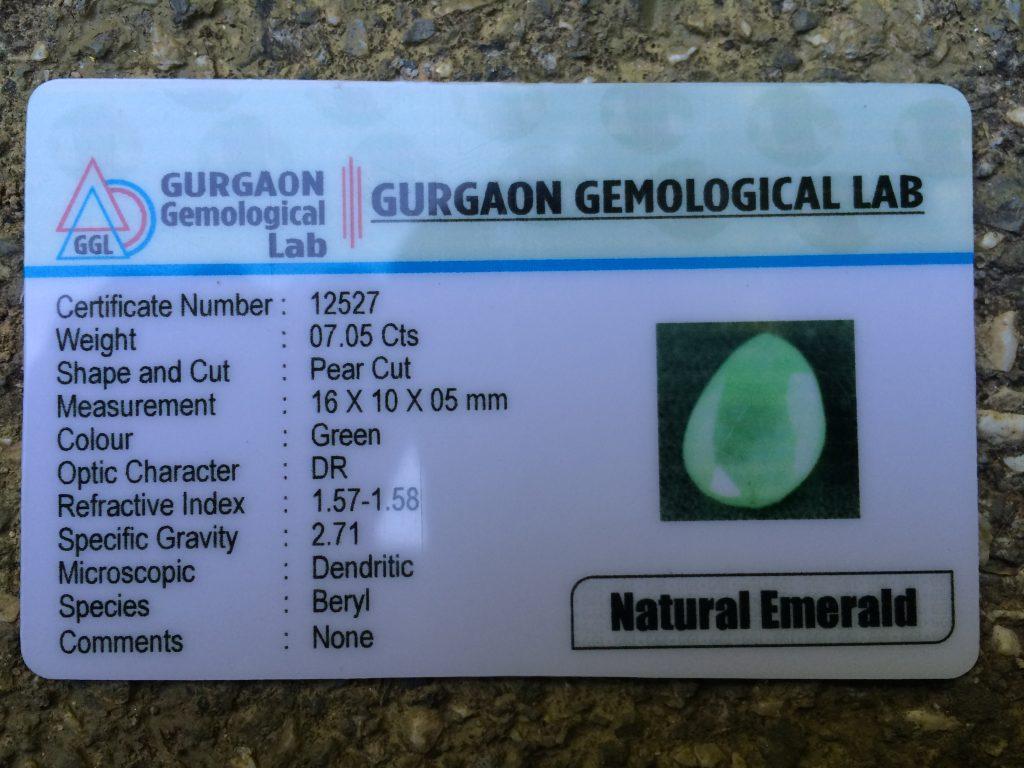 Certified Natural Emerald