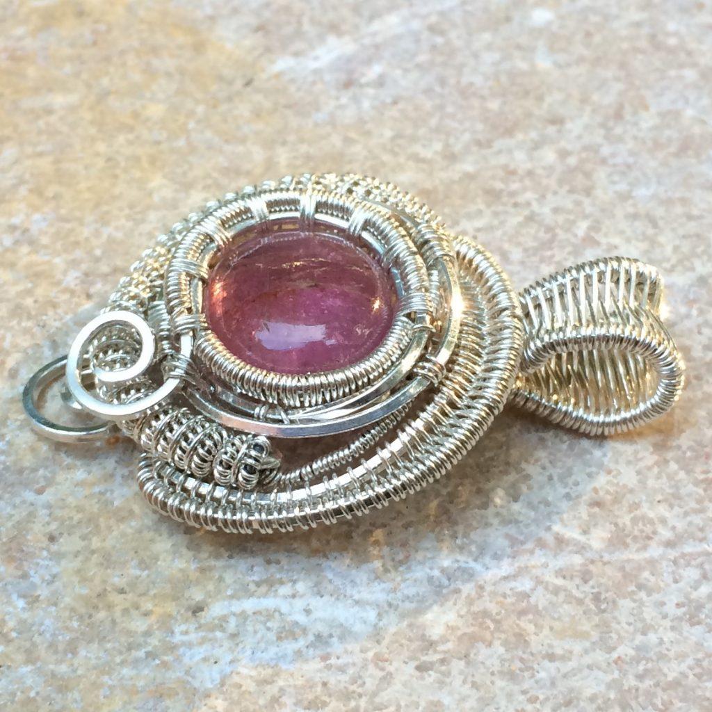 Wire Wrap Tourmaline Necklace