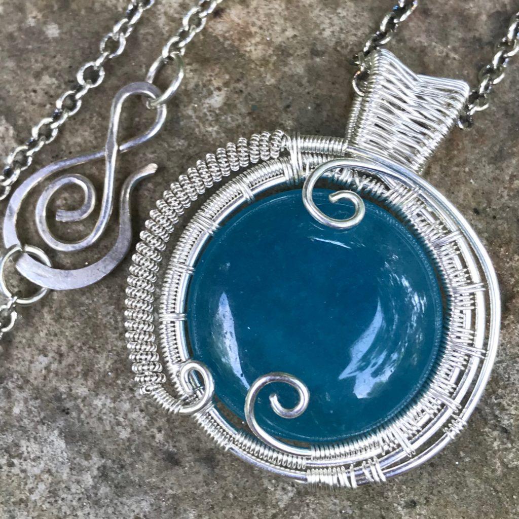 Mystic Aquamarine Necklace-Front