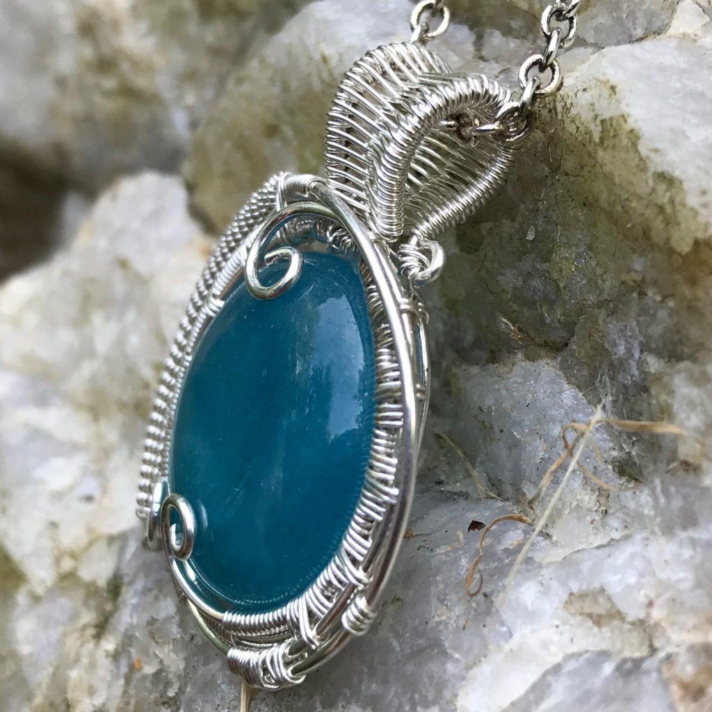 Mystic Aquamarine Necklace-Right