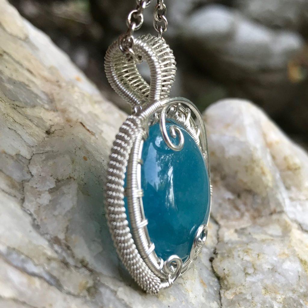 Mystic Aquamarine Necklace-Left
