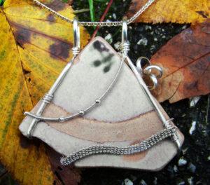 Custom Wire Wrap Jewelry - Plate Shard Front