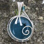 Aquamarine with Bead-Back