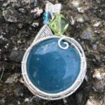 Aquamarine with Bead-Front